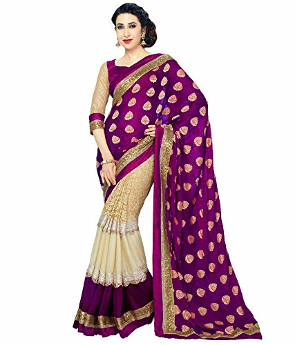 DreamSet Silk & Georgette Saree (Karishma Saree01_Multicolor_Free Size)