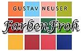 50x Tischkarten in Nacht-Blau I Größe: 100 x 90 mm (gefaltet 100 x 45 mm) I 240 g/m² - Sehr schwere und stabile Qualität I Aus der Serie FarbenFroh von NEUSER! - 2