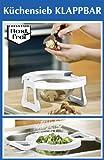 Wenko Küchensieb Sieb Küche 2 in 1 klappbar Ø 17 cm Nudelsieb Salatsieb