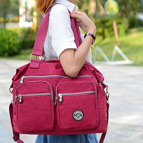 Outreo Borse da Viaggio Borsa a Tracolla Donna Sacchetto Impermeabile Borse a Spalla Borsetta Griffate Borsello Sport Messenger Bag per Scuola Ragazza Tasca Viola