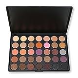 35 Farben der Smokey Lidschatten Palette, DISINO Schimmer Warm Farbe Augenschatten Palette für Catwalk Show Makeup