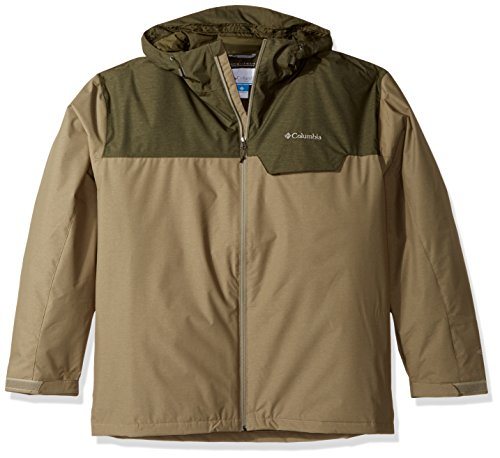 Columbia Men's Big-Tall Huntsville Peak Novelty Jacket, 3X, Sage/Peat Moss