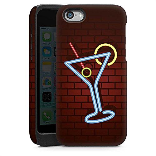Apple iPhone 6 Housse Étui Silicone Coque Protection Cocktail Fête Néon Cas Tough brillant