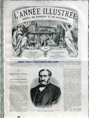 ANNEE ILLUSTREE (L') [No 44] du 15/10/1868 - M. DE FORCADE LA ROQUETTE - TRAVAUX PUBLICS PAR PIERSON - ACTUALITES DE LA QUINZAINE PAR MONTALAN.