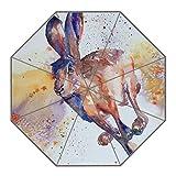Kundenspezifischer faltbarer Umbrella Diy personifizierter Hase Entwurfs-beweglicher Reise-Regenschirm f¨¹r Sonne und Regen