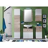 Spar Badezimmer Möbelprogramm mit allen Einzelschränken (Badmöbelset_02)