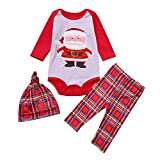 OverDose Damen Weihnachtsmann Tops Bluse Hosen Familie Parenting Pyjamas Nachtwäsche Weihnachten weiche Überraschung Outfits Set Anzug für Winter Herbst(Mädchen,3-6 Monate)