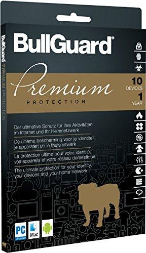 Preisvergleich Produktbild BullGuard Premium Protection 1 Jahr 10 Geräte Slimline Mini Tuckin