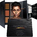 Aesthetica Contour Series Tan To Dark Powder Contour Kit / Contouring & Highlighting Makeup Palette; Vegan & Cruelty Free