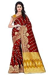 Vatsla Women's Heavy Banarasi Silk Saree With Heavy Banarasi Work & Blouse Piece(VAPEX107BREDYELLOW)