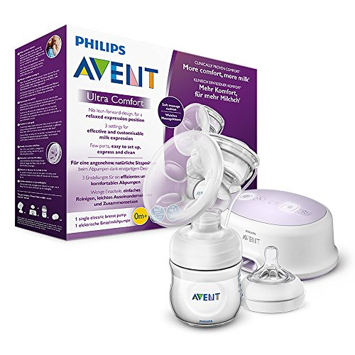 Neu Baby elektrische Milchpumpe Smart Absaugen Ruhig Automatic mit Milchflasche