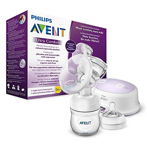 Philips Avent SCF332/31 Elektrische Komfort-Einzelmilchpumpe, weiß