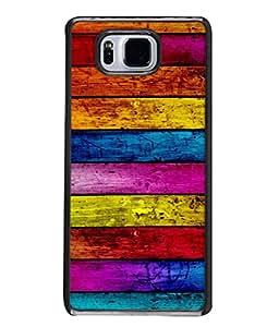 PrintVisa Designer Back Case Cover for Samsung Galaxy Alpha :: Samsung Galaxy Alpha S801 :: Samsung Galaxy Alpha G850F G850T G850M G850Fq G850Y G850A G850W G8508S :: Samsung Galaxy Alfa (Colourful Wooden Logs Design)