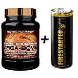 Scitec Nutrition Crea Bomb - 660g Creatin Ethyl Ester Kraftsteigerung + Energy Drink