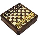 2 en 1 tablero del juego de ajedrez magnético y juego de Backgammon en caja de madera Seeshum