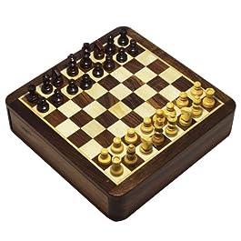 2 in 1 gioco scacchiera magnetica e Backgammon Set in scatola legno Seeshum