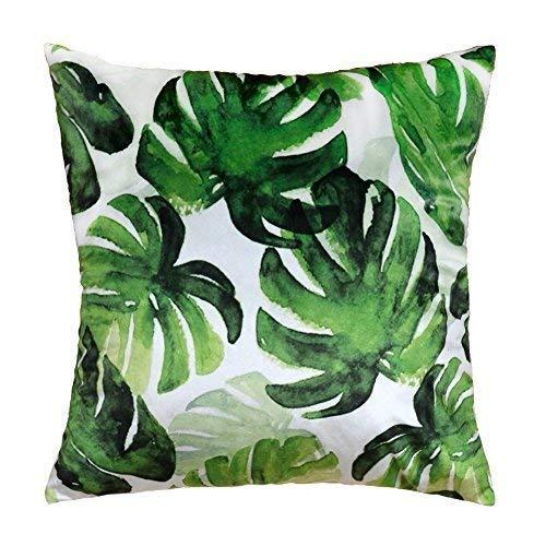 Forest Green Outdoor-stuhl (jw Rainforest Kissen Print Dekorative Kissenbezüge, Samt Home Sofa Stuhl Bett Outdoor Decor Kopfkissen, Polyester-Mischgewebe, Palm Leaves 2, 17x17 Inch)
