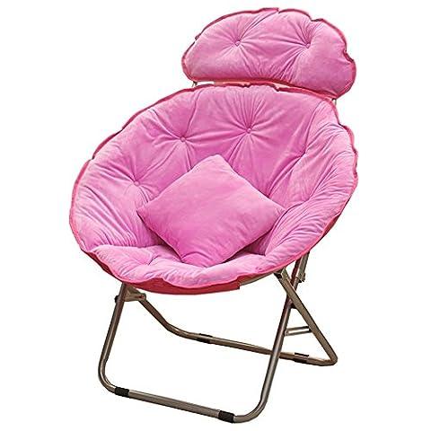 Chaise plongeante à grande taille Lunch Break Fold Fauteuil inclinable Nap Sofa ( Couleur : Rose )