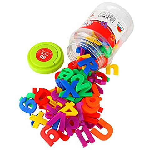 AUKWING Magnetic Uppercase and lowercase letters and Number Spelling Preschool