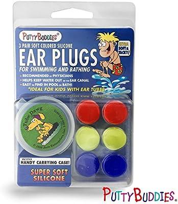 Ear Bandit Putty Buddies - Lote de tapones para los oídos (3 pares)