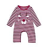 Newborn Baby Boys Girls Christmas Deer Romper Jumpsuit Tops Outfits Clothes LuckUK
