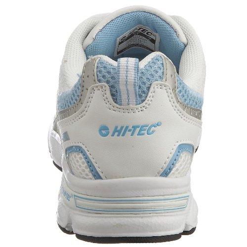 Hi-Tec R100, Chaussures course à pied femme Blanc/Bleu ciel