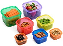 Meal Prep Haven 7 recipientes, con sistema de guía, 100% herméticos, multicolor