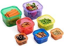 Meal Prep Haven 7recipientes, con sistema de guía, 100% herméticos, multicolor
