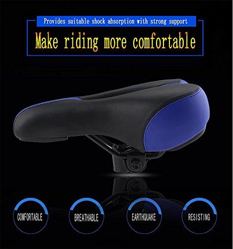 RUIX Sattelbezug Für Den Fahrradsitz Komfortable Mountainbike Sattel Gepolstert Kissen Weich Radfahren Fahrrad Universalträger Zubehör,Blue