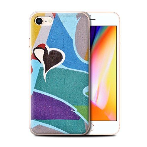 Stuff4 Hülle / Case für Apple iPhone 8 / Reise/Schiff Muster / Städtisch Straße Kunst Kollektion Bunt/Herz