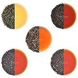VAHDAM, Oolong Tè Foglie Sampler - 5 TEAS, 25 porzioni | OOLONG TEA PER PERDITA DI PESO | 5 Delicious Oolong Tea Foglia sciolta | Tè dimagrante naturale al 100%, tè per dimagrire, tè disintossicante