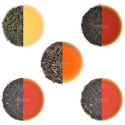 VAHDAM, Oolong Tea Leaves Sampler - 5 TEAS, 25 Servings | Oolong Tea for Weight Loss | 5 Delicious Oolong Tea Loose Leaf | 100% Natural Slimming Tea, Weight Loss Tea, Detox Tea | Oolong Tea Pack