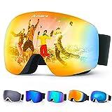 Best Ski Goggles - Avoalre Ski Goggles Men and Women OTG Anti-fog Review