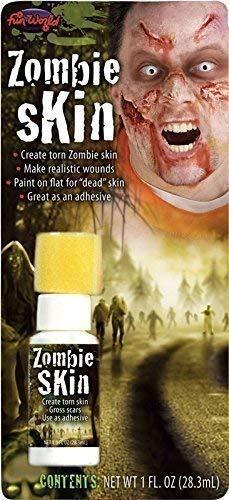 Damen Herren Flüssiger Latex Falsche Haut Halloween Toter Zombie Spezialeffekte Make-Up Kostüm Kleid Outfit Satz