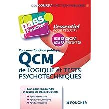 QCM de logique et Tests psychotechniques Concours fonction publique 2e édition