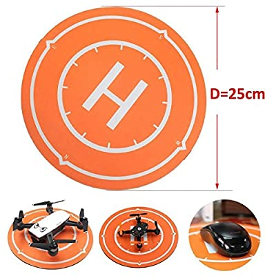 Waterproof Mini Drone Landing Pad Parking Apron , Mouse Pad , 25cm for DJI Spark Mavic Pro Drone , SYMA X5SW , Mini Micro FPV Racing RC Drone Quadcopter by LITEBEE