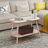 VYN Tables de café petites tailles modernes simples de table de chevet de jambes en bois solides modernes de ménage facultatif,Un blanc,