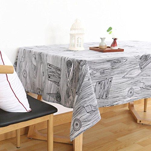 QZZ Nappes Nappe de table pastorale en bois et lin (taille : 130 * 180cm)