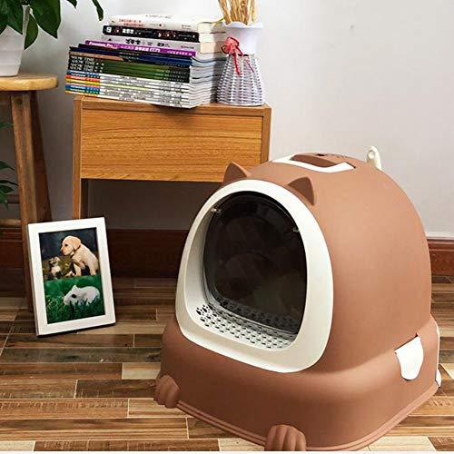 Shsi D-Arenero para Gatos | Caja De Aseo para Mascotas | Arenero para Gatos | Cajas De Arena para Gatos | Arenero Gatos, 52 * 42 * 39.5Cm,Brown