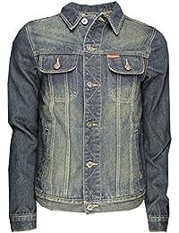 Mens Denim Jacket Soulstar Classic Retro Coat