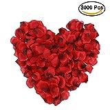 URTENT Rosenblätter 3000 Stück Rosenblüten für Hochzeit Party und Hochzeit Party Dekoration Romantische Atmosphäre