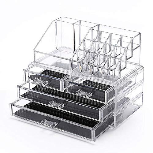Acryl Transparent Makeup Organizer, Aufbewahrungsbox Nagellack Rack Lippenstift Kosmetische Aufbewahrungsbox Schlafzimmer Schmuck Fall Box -