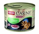 Animonda Carny Kitten mit Huhn plus Kaninchen 200 g - Katzenfutter, 6er Pack (6 x 200 g)