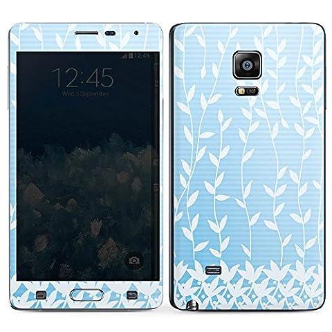 Samsung Galaxy Note Edge Case Skin Sticker aus Vinyl-Folie Aufkleber Flower Blätter Muster