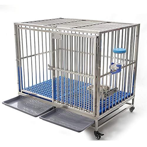 Haustier-Laufstall-Tierzaun-Käfig, Edelstahl-Hundekäfig-großer Hund, tragbare Haustier-Vorräte