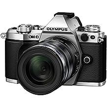 "Olympus E-M5 MarkII - Cámara EVIL de 16.1 Mp (pantalla táctil 3"", estabilizador óptico, grabación de vídeo Full HD), color plata - Kit con objetivo M. Zuiko EZ 12-50 mm f3.5"
