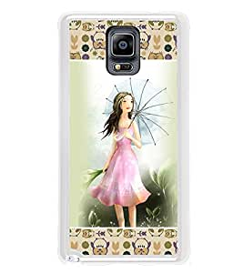 ifasho young Girl with umbrella Back Case Cover for Samsung Galaxy Note 3