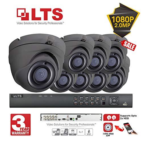 LTS 8CH 1080p Security DVR HD-TVI 6X Full HD Outdoor Fixed Dome CCTV Kamerasystem + 2TB Festplatte Hybrid Recorder Echtzeit-Streaming, 2MP Easy Mobile Access, E-Mail-Benachrichtigung, Tag/Nachtsicht 2 Tb Hybrid-recorder