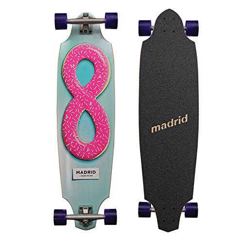 Madrid MADE IN USA Twin-Tip TM Longboard, Donut Squid 37.75