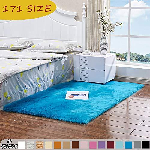 MODKOY alfombras de habitacion Antideslizantes Tela Lavable Tejidas Shaggy Suaves Pelusa Sheepskin Rug...